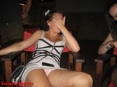 Drunk girl upskirt