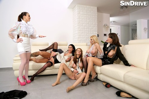 SinDrive.com - Tiffany Doll, Chintia Doll, Donna Bell, Abbie Cat & Violet Black - Big Tits Special Put The Rough Slut In Her Place With Some Anal Domination - Part 1