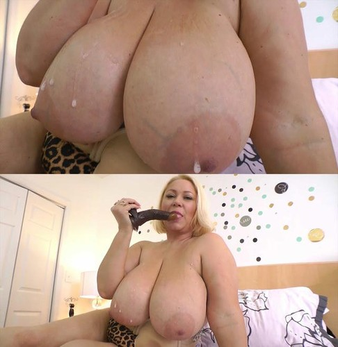 Samantha 38G   Massive tits Leopard Print Pussy Pumping