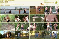 Kirbon - Lena Gets Naked - (RbA 800x450 - 0.5Gb) Young company of nudists