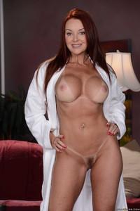 Nude woman on street