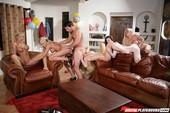 Bibi Jones & Jesse Jane & Kayden Kross & Riley Steele & Stoya - Babysitters - 2